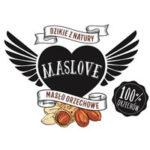 Logo producenta masła orzechowego Maslove